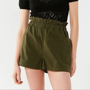 UO utility paper bag shorts